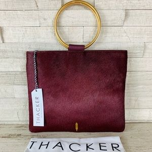 Thacker Le Pouch NWT Cardinal/Brushed Gold $168